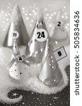 festive advent calendar with... | Shutterstock . vector #505834636