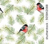 christmas seamless pattern with ... | Shutterstock . vector #505842088