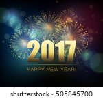 vector holiday fireworks... | Shutterstock .eps vector #505845700
