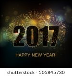 vector holiday fireworks... | Shutterstock .eps vector #505845730