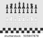 set of chess pieces. black and... | Shutterstock .eps vector #505847878
