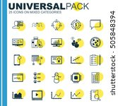 set of 25 universal editable... | Shutterstock .eps vector #505848394