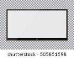 blank screen. realistic tv... | Shutterstock .eps vector #505851598