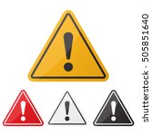 hazard warning attention sign... | Shutterstock .eps vector #505851640