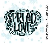 spread love greeting card... | Shutterstock .eps vector #505851664