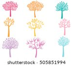 vector set of stylized color... | Shutterstock .eps vector #505851994