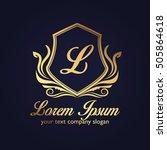 luxury logo | Shutterstock .eps vector #505864618