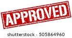 approved. grunge vintage... | Shutterstock .eps vector #505864960