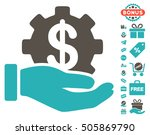 financial development gear hand ... | Shutterstock .eps vector #505869790