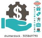 financial development gear hand ... | Shutterstock .eps vector #505869790