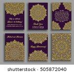 vector cards set. wedding... | Shutterstock .eps vector #505872040