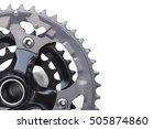 closeup of mountain bike chain... | Shutterstock . vector #505874860