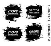 four rectangular abstract... | Shutterstock .eps vector #505878943
