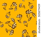 seamless floral pattern.... | Shutterstock .eps vector #505879459