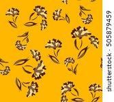 seamless floral pattern.... | Shutterstock .eps vector #505879459