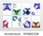 geometric background template... | Shutterstock .eps vector #505882228