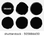 vector grunge circles. grunge... | Shutterstock .eps vector #505886650