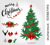 christmas vector set.... | Shutterstock .eps vector #505887493