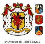 vector heraldic illustration in ... | Shutterstock .eps vector #505888213