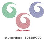 set of round shape logo design... | Shutterstock .eps vector #505889770