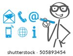 businessman drawing contact... | Shutterstock .eps vector #505893454