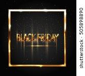 black friday sale banner ... | Shutterstock .eps vector #505898890