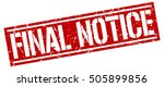 final notice. grunge vintage... | Shutterstock .eps vector #505899856