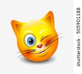 Cute Winking Cat Emoticon ...
