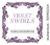 vector vintage pink  frame with ... | Shutterstock .eps vector #505902214