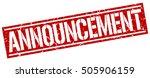 announcement. grunge vintage... | Shutterstock .eps vector #505906159