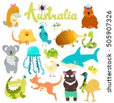 cute animals collection  baby... | Shutterstock .eps vector #505907326