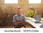 portrait of a smiling young... | Shutterstock . vector #505912366