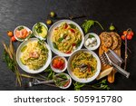 pasta italian food  | Shutterstock . vector #505915780
