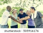 group of senior retirement... | Shutterstock . vector #505916176