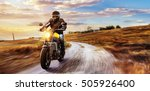 motorbike on the road riding.... | Shutterstock . vector #505926400
