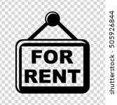 for rent  icons | Shutterstock .eps vector #505926844