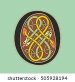 decorative ornamental initial...   Shutterstock .eps vector #505928194