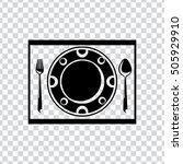 cutlery icon   Shutterstock .eps vector #505929910