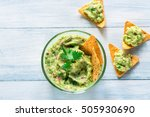 Bowl Of Guacamole With Tortill...