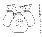 cash money icon image  | Shutterstock .eps vector #505932520
