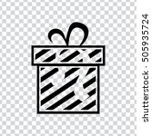 gift box icon | Shutterstock .eps vector #505935724