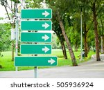 blank directional signs in the... | Shutterstock . vector #505936924