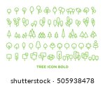 tree icon bold set for website  ... | Shutterstock .eps vector #505938478