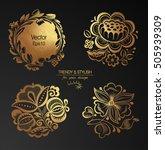 set of floral elements. design...   Shutterstock .eps vector #505939309