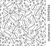 seamless pattern with coffee... | Shutterstock .eps vector #505940566