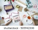 shopping internet digital... | Shutterstock . vector #505942330
