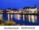 Small photo of Panorama of Trouville-sur-Mer with city hall. Trouville-sur-Mer, Normandy, France.