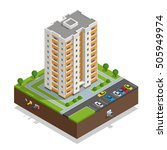 vector isometric icon or... | Shutterstock .eps vector #505949974