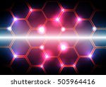 vector pattern hexagon with... | Shutterstock .eps vector #505964416