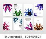 geometric background template... | Shutterstock .eps vector #505964524
